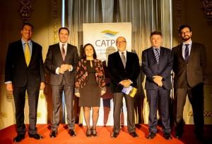 Ponentes de la presentación de izquierda a derecha: Antonio Garzón, David Morales, Pilar López, Ángel Ferrera, Rafael Molina Petit y Nicolás Villalobos