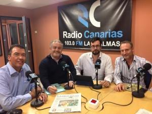 Participantes del debate, de izquierda a derecha: Antonio Garzón, Ignacio Moll, Nicolás Villalobos y Matías González